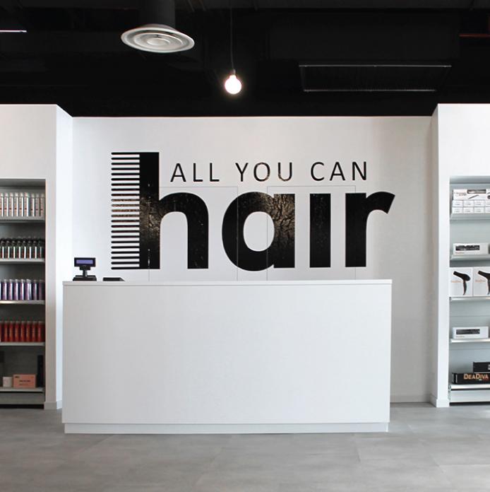 concept store Aych per allyoucanhair, architettura