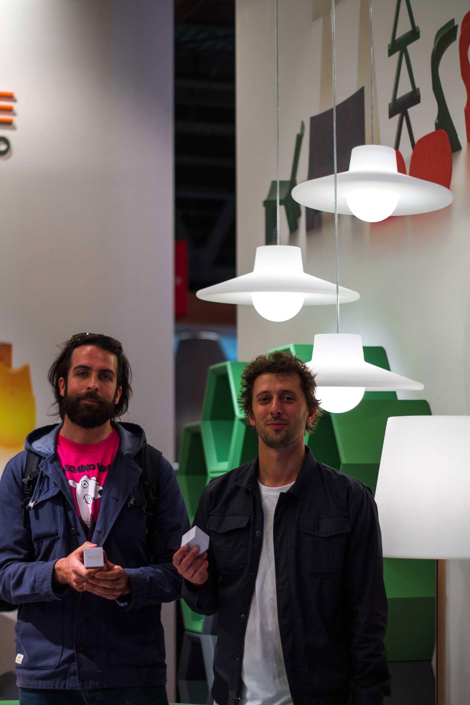 Ico Suspension Lamp Slide, Design