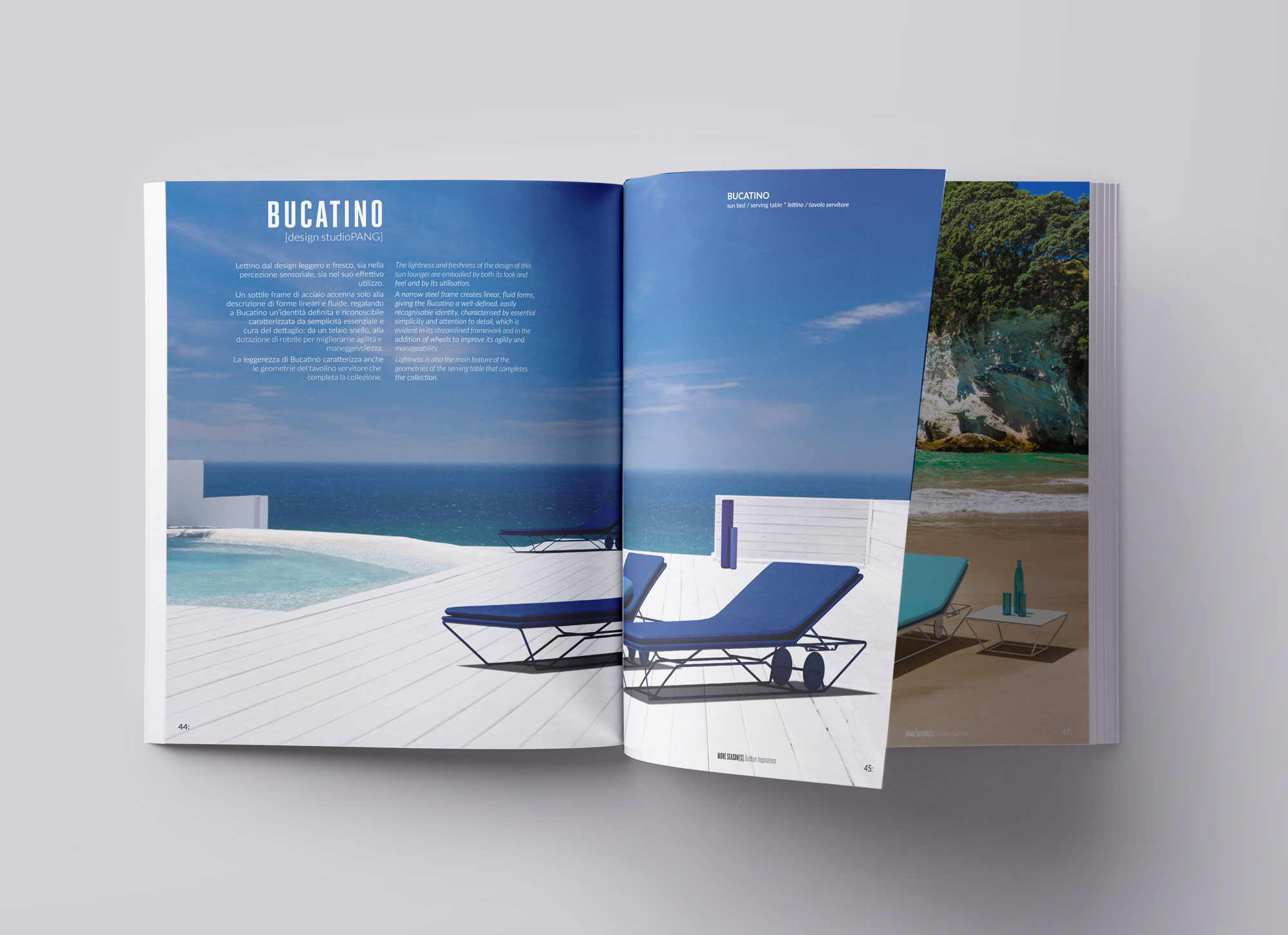 Graphic and comunications Corporate Image for a wide outdoor furniture catalogue