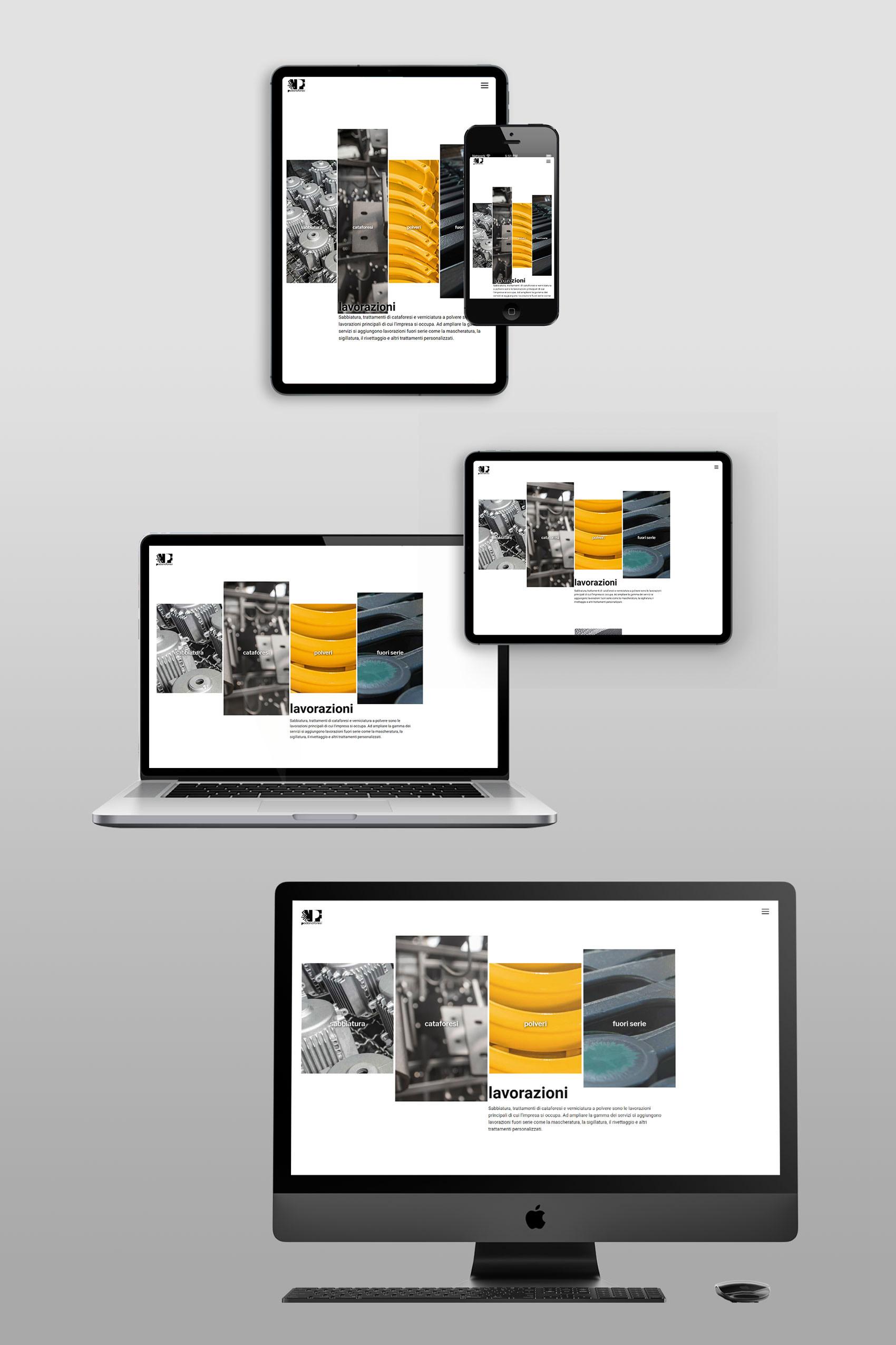 sito web aziendale per VPF